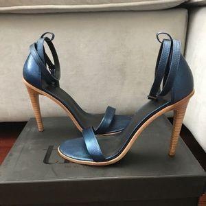 Tibi Amber Sandals in Caspar Blue, Size 7.5